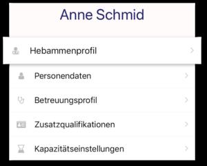 Midiaid App Profileinstellungen